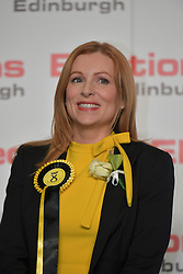 SCOTTISH PARLIAMENTARY ELECTION 2016 &ndash; Ash Denham, Scottish National Party (SNP) winning the Eastern parliamentary election at the Royal Highland Centre, Edinburgh for the counting of votes and declaration of results.<br />