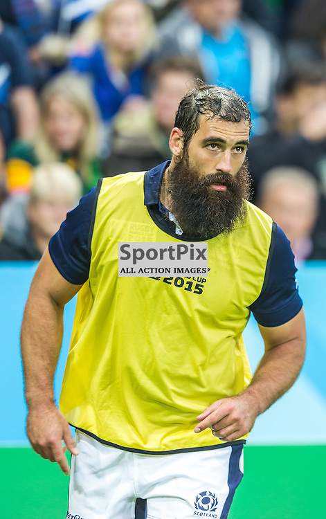 Josh Strauss warms down after being substituted during the Rugby World Cup match between Scotland and South Africa (c) ROSS EAGLESHAM | Sportpix.co.uk