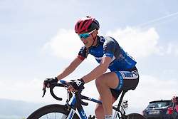 Elise Maes (LUX) of Team WNT rides the final few hundred metres of Stage 4 the Emakumeen Bira - a 58 km road race, between Etxarri Aranatz and San Miguel on May 20, 2017, in Basque Country, Spain. (Photo by Balint Hamvas/Velofocus)