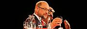 Mannheim. 19.09.17 | SPD-Kanzlerkandidat Martin Schulz im Capitol Mannheim.<br /> Im Wahlkampf zur Bundestagswahl unterstützt Kanzlerkandidat Martin Schulz Mannheims SPD Bundestagsabgeordneter Stefan Rebmann.<br /> <br /> <br /> BILD- ID 2398 |<br /> Bild: Markus Prosswitz 19SEP17 / masterpress (Bild ist honorarpflichtig - No Model Release!)