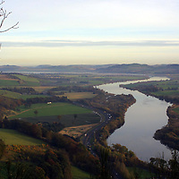 The view down the River Tay as seen from Kinnoul Hill, Perth<br />