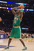 11 March 2012: Forward Kevin Garnett of the Boston Celtics looks to pass the ball against the Los Angeles Lakers during the second half of the Lakers 97-94 victory over the Celtics at the STAPLES Center in Los Angeles, CA.