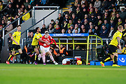 Burton's Lee Williamson (7) fouls Barnsley's Ryan Kent (40) during the EFL Sky Bet Championship match between Burton Albion and Barnsley at the Pirelli Stadium, Burton upon Trent, England on 5 November 2016. Photo by Richard Holmes.