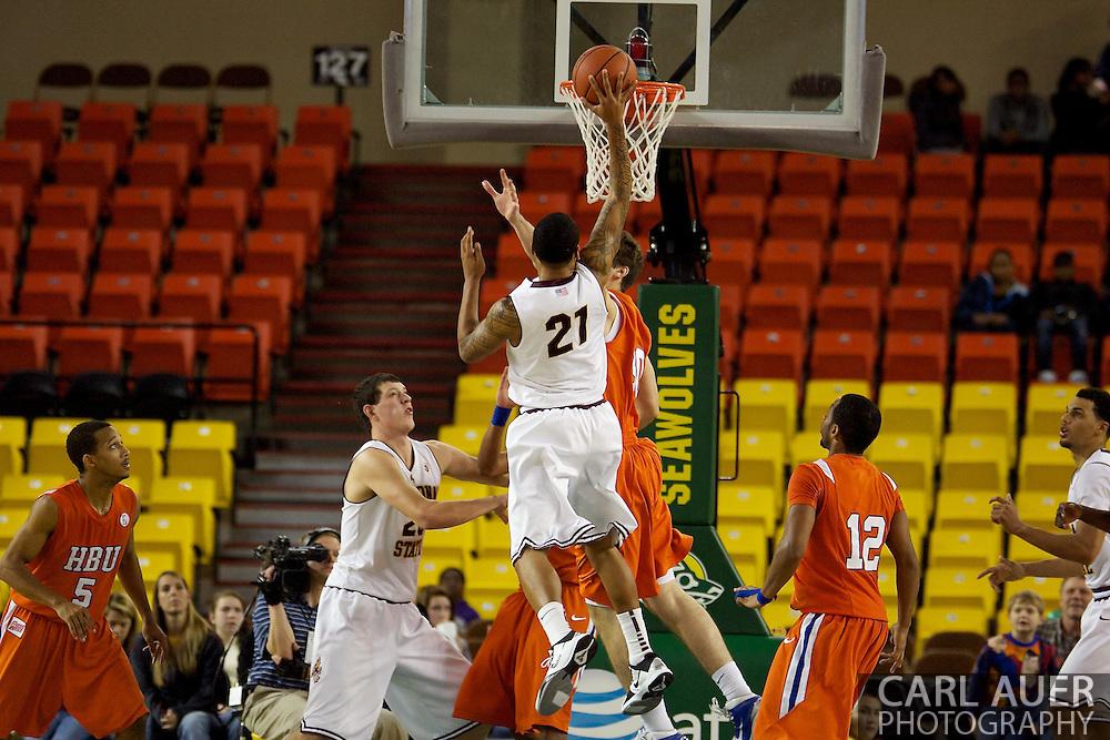 November 25th, 2010:  Anchorage, Alaska - Arizona State guard Keala King (21), shoots over the HBU Huskies defense in the Sun Devils 73-55 win over Houston Baptist at the Great Alaska Shootout.