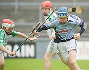 Jack Lawlor, Na Piarsaigh, Limerick  and Conor Houlihan O'loughlin Gaels  in the Division 1 Final at Pearse Stadium in the Féile na nGael 2011. Photo:Andrew Downes.