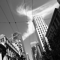 Street car lines, Downtown San Francisco, 2008.