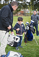 HILVERSUM - OPEN GOLFDAG SPANDERSBOSCH.  , kennismaken met golf tijdens Open Golfdag pro Dirk Arends, COPYRIGHT KOEN SUYK