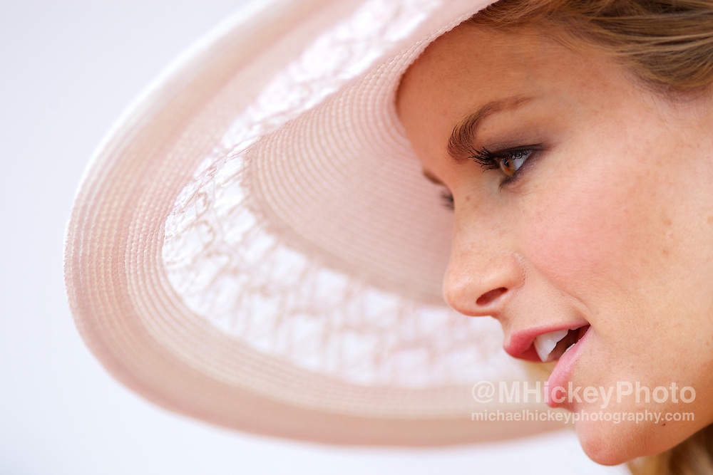 Victoria's Secret model Marisa Miller appears at the Kentucky Derby in Louisville, KY. Photo by Michael Hickey