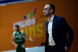 Dejan Jakara head coach of KK Helios Suns during 9. round of Slovenian national championship between teams Helios Suns and Zlatorog Lasko in Sport Hall Domzale on 30. November 2019, Domzale, Slovenija. Grega Valancic / Sportida