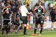 Brentford   players take a drinks break during the EFL Sky Bet Championship match between Rotherham United and Brentford at the New York Stadium, Rotherham, England on 20 August 2016. Photo by Simon Davies.