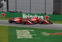 September 2, 2018 - Monza, Italy - Motorsports: FIA Formula One World Championship 2018, Grand Prix of Italy, .#7 Kimi Raikkonen (FIN, Scuderia Ferrari), #5 Sebastian Vettel (GER, Scuderia Ferrari) (Credit Image: © Hoch Zwei via ZUMA Wire)