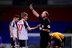 Ronan Darcy of Bolton Wanderers receives a yellow card - Mandatory by-line: Ryan Hiscott/JMP - 28/01/2020 - FOOTBALL - University of Bolton Stadium - Bolton, England - Bolton Wanderers v Bristol Rovers - Sky Bet League One