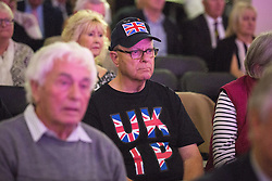 © Licensed to London News Pictures . 25/09/2015 . Doncaster , UK . UKIP supporter at the 2015 UKIP Conference at Doncaster Racecourse . Photo credit : Joel Goodman/LNP