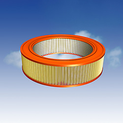 Air filter for an automobile with clipping path