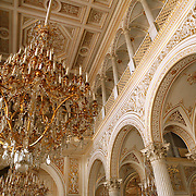 The Hermitage Museum also known as the Winter Palace,  was the main residence of the Russian Tsars located on the banks of the Neva River, in St. Petersburg.  Photography by Jose More