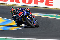 May 18, 2018 - Le Mans, France - Maverick Vinales (Movistar Yamaha) during the practice sessions.during MotoGP Le Mans practice sessions in France  (Credit Image: © Gaetano Piazzolla/Pacific Press via ZUMA Wire)