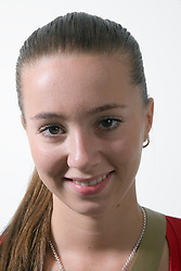 Teenage girl smiling,