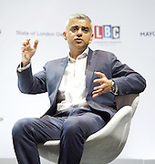 Sadiq Khan<br /> Mayor of London <br /> State of London debate hosted by LBC <br /> at The O2 Arena, London, Great Britain <br /> 30th July 2016 <br /> <br /> Sadiq Khan <br /> <br /> Photograph by Elliott Franks <br /> Image licensed to Elliott Franks Photography Services