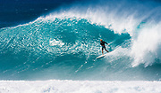 John John Florence, World Champion Professsional Surfer at Backdoor Pipeline, North Shore, Oahu, Hawaii