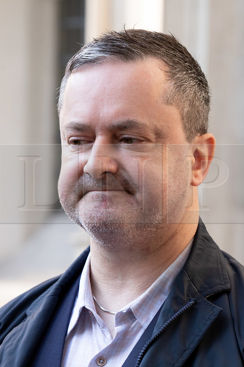 """© Licensed to London News Pictures. 10/10/2018. London, UK. Gareth Lee leaves The Supreme Court after losing his case. Today the Supreme Court ruled that Daniel and Amy McArthur, owners of Ashers Bakery in Belfast, did not discriminate against Mr Lee by refusing to decorate a cake with the slogan """"Support Gay Marriage"""". The case has become known as the 'gay cake' case. Photo credit : Tom Nicholson/LNP"""