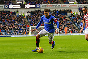 James Tavernier of Rangers looks to make some in roads  during the Ladbrokes Scottish Premiership match between Rangers and Hamilton Academical FC at Ibrox, Glasgow, Scotland on 16 December 2018.