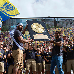 05,06,2017 Clermont Auvergne celebration the day after winning the Top 14 Final