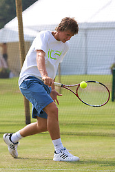 Liverpool, England - Sunday, June 10, 2007: Chris Llewellyn practices during qualifying for the Liverpool International Tennis Tournament at Calderstones Park. (Pic by David Rawcliffe/Propaganda)