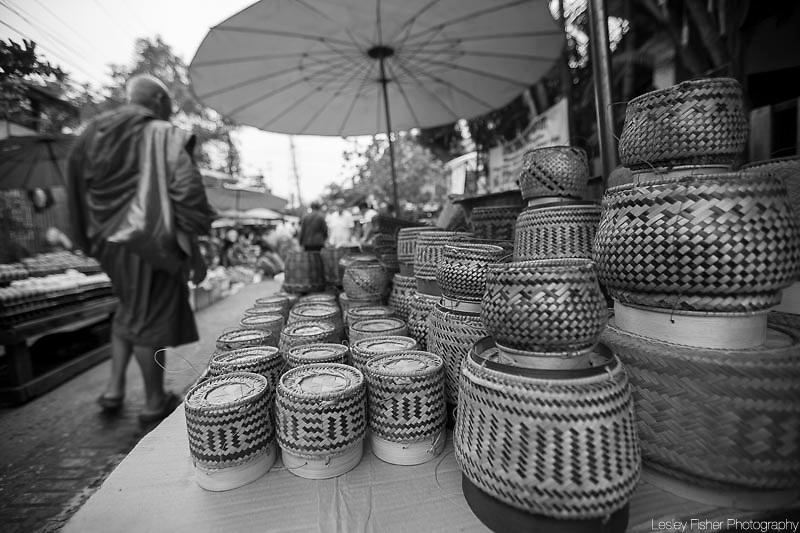 Local fresh morning market located in Luang Prabang, Laos