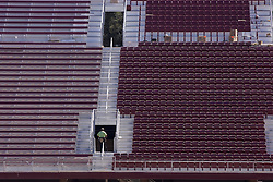 Stanford Stadium construction.