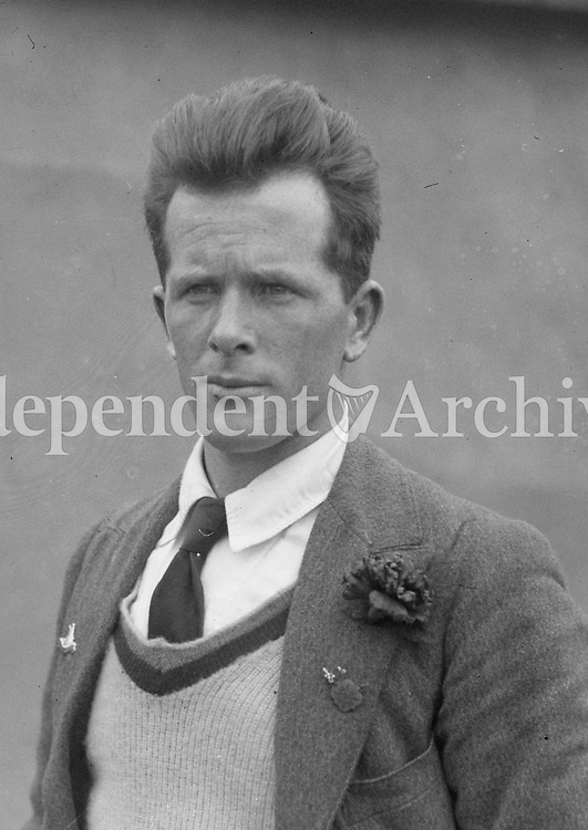 H896<br /> Aonach Tailteann Athletics - Croke Park. Portrait of same man as in H913. 1928. J.J. O'Reilly marathon runner. First Irish finisher in the marathon. (Part of the Independent Newspapers Ireland/NLI Collection)