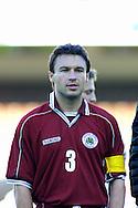 22.05.2002, Olympic Stadium, Helsinki, Finland..Friendly International match, Finland v Latvia..Vitalijs Astafjevs - Latvia.©Juha Tamminen