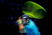 Matteo Berrettini of Italy in action during the Nitto ATP Finals at the O2 Arena, London, United Kingdom on 14 November 2019.