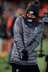 LIVERPOOL, ENGLAND - Saturday, December 29, 2018: Liverpool's unused player Rhian Brewster during the FA Premier League match between Liverpool FC and Arsenal FC at Anfield. (Pic by David Rawcliffe/Propaganda)