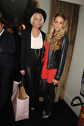 Left to right, The HON.SOPHIA HESKETH and FLORENCE BRUDENELL-BRUCE at a party to celebrate the launch of the Kova & T fashion label and to re-launch the Harvey Nichols Fifth Floor Bar, held at harvey Nichols, Knightsbridge, London on 22nd November 2007.<br />