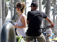 Ashley Cole and pregnant girlfriend Sharon Canu take a bike ride - 7 Oct 2017