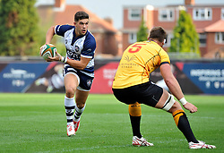 Ben Mosses of Bristol Rugby in possession - Photo mandatory by-line: Patrick Khachfe/JMP - Mobile: 07966 386802 21/09/2014 - SPORT - RUGBY UNION - Bristol - Ashton Gate - Bristol Rugby v Cornish Pirates - GK IPA Championship.