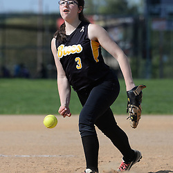 Staff photos by Tom Kelly IV<br /> Interboro starting pitcher Rachel Reifer (3) throws a pitch during the Interboro at Upper Darby girls softball game, Friday afternoon.