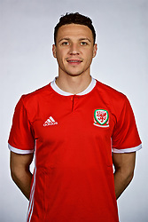 NANNING, CHINA - Saturday, March 24, 2018: Wales' James Chester during a squad photo shoot at the Wanda Realm Hotel on day five of the 2018 Gree China Cup International Football Championship. (Pic by David Rawcliffe/Propaganda)