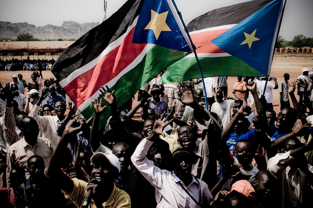 Demonstrators rally in support of Southern Sudanese independence at the Dr. John Garang Memorial in Southern Sudan will vote on January 9 to decide whether or not to remain as part of Sudan or set off alone as the world's newest country. (© William B. Plowman)