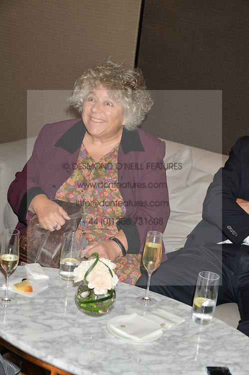 MIRIAM MARGOLYES at a party to celebrate Jack Petchey's 90th birthday in association with the Stroke Association held at the Shangri-La Hotel, Level 34, The Shard, London on 13th July 2015.