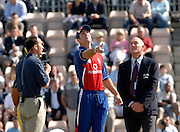 2005 Twenty/20 Cricket England vs Australia, The Rose Bowl, Southampton, Hampshire, ENGLAND 13.06.2005, Michael Vaughan, tosses the coin in the first Interantional Twenty20 game between England and Australia..Photo  Peter Spurrier. .email images@intersport-images...