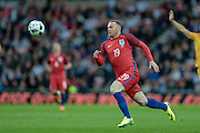 Wayne Rooney (England) runs with the ball during the Friendly International match match between England and Australia at the Stadium Of Light, Sunderland, England on 27 May 2016. Photo by Mark P Doherty.