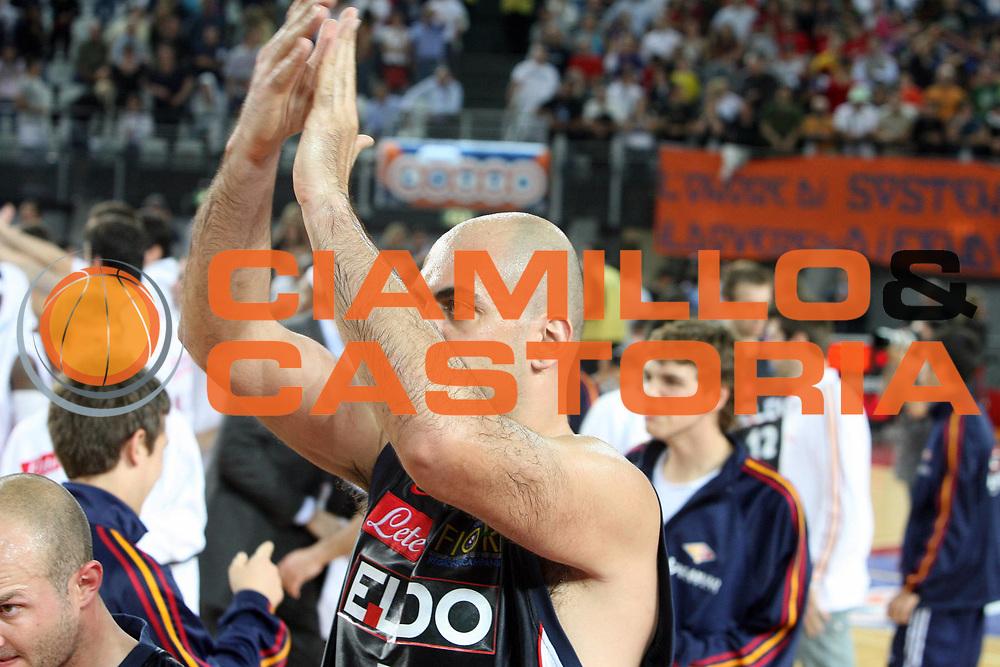DESCRIZIONE : Roma Lega A1 2006-07 Playoff Quarti di Finale Gara 3 Lottomatica Virtus Roma Eldo Napoli<br /> GIOCATORE : Domenico Morena<br /> SQUADRA : Eldo Napoli<br /> EVENTO : Campionato Lega A1 2006-2007 Playoff Quarti di Finale Gara 3 <br /> GARA : Lottomatica Virtus Roma Eldo Napoli<br /> DATA : 22/05/2007 <br /> CATEGORIA : Delusione<br /> SPORT : Pallacanestro <br /> AUTORE : Agenzia Ciamillo-Castoria/E.Castoria