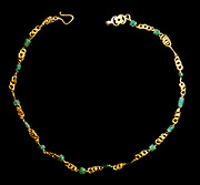 Childs gold necklace with Lapis Lazuli AD 50-120 Roman