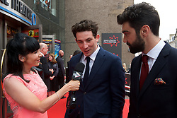Left to right, Josh O'Connor and  Alec Secareanu being interviewed on the red carpet at the Edinburgh International Film Festival Opening Night Gala of the UK  Premier, God's Own Country directed by Francis Lee at Edinburgh's Festival Theatre. Wednesday 21st June 2017(c) Brian Anderson | Edinburgh Elite media