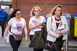 "© Licensed to London News Pictures. 01/02/2018. Liverpool UK. Supporters of Alfie Evans arrive at Liverpool Civil & Family Court this morning. Tom Evans and Kate James from Liverpool are in dispute with medics looking after their son 19-month-old son Alfie Evans, at Alder Hey Children's Hospital in Liverpool. Alfie is in a ""semi-vegetative state"" and had a degenerative neurological condition doctors have not definitively diagnosed. Specialists at Alder Hey say continuing life-support treatment is not in Alfie's best interests but the boy's parents want permission to fly their son to a hospital in Rome for possible diagnosis and treatment.Photo credit: London News Pictures"