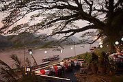Riverside restaurant on the Mekong River, Luang Prabang, Laos