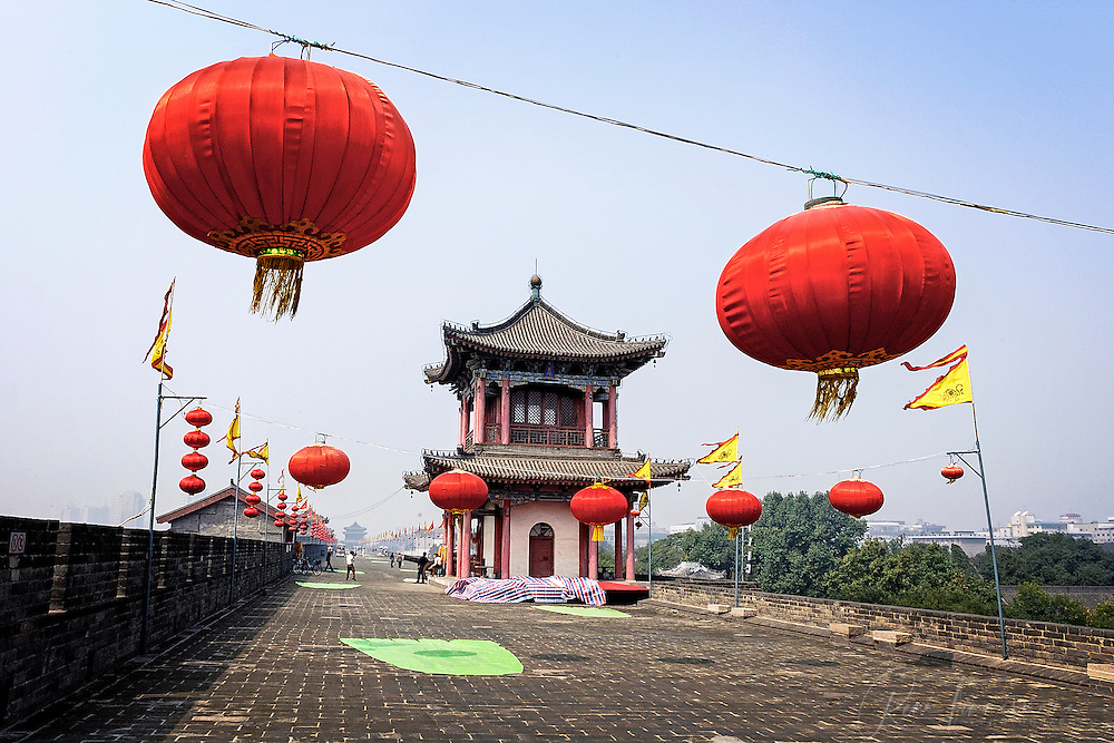 The city wall of Xi'an.