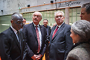 Prof. Vladimír Franz with some of the Czech presidential candidates at the National Technical Library in Prague Dejvice (from left V. Franz, P?emysl Sobotka, Milos Zeman, Jiri Dienstbier, Tá?a Fischerová). Franz is a prominent Czech composer and painter, stage music author and also a registered candidate in the 2013 Czech presidential election.