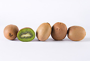 Kiwis on white background